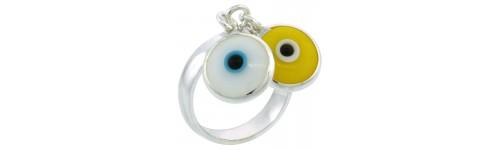 Sterling Silver Evil Eye Rings