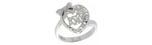 Sterling Silver Quinceanera Rings