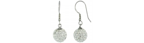 Swarovski & Other Crystals Silver Earrings