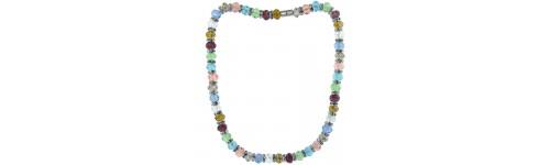 Swarovski & Other Crystals Silver Necklaces