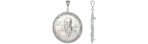 Coin Bezel Frame Pendants