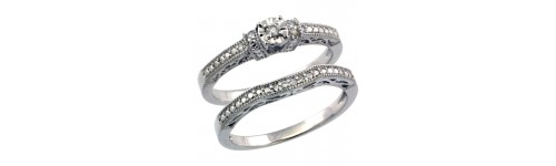 2-Piece Ladies' Diamond Ring Sets