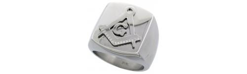 Masonic Compass Design Rings