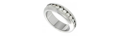 Wedding Bands with CZ Stones