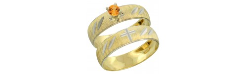 Orange Sapphire Rings